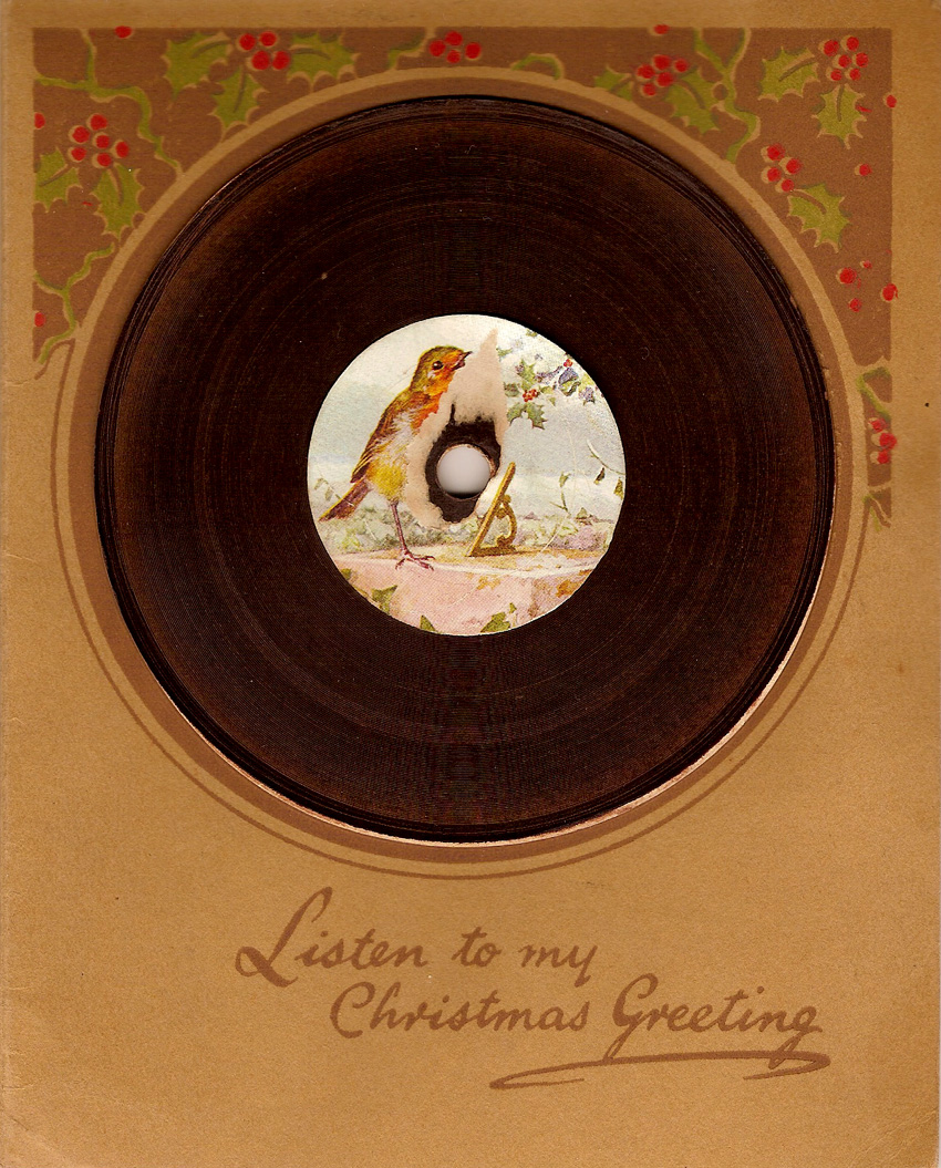 The lothians 2016 listen to my christmas greeting a miniature 78 rpm festive season gramophone recording m4hsunfo Image collections