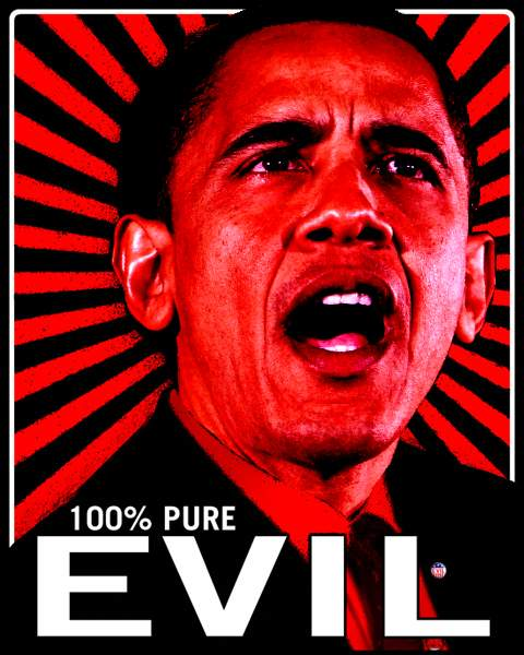 obama pure evil 