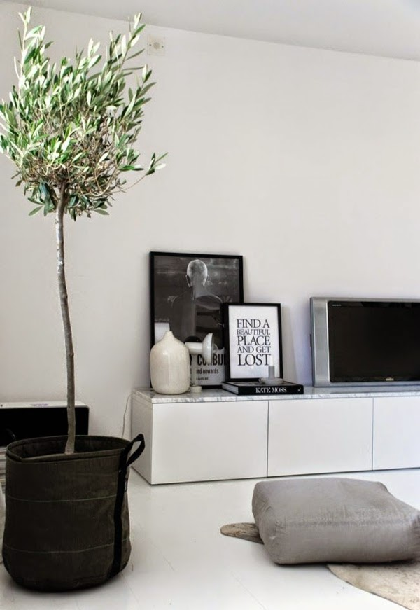 white modern tv wall units for living room 2015