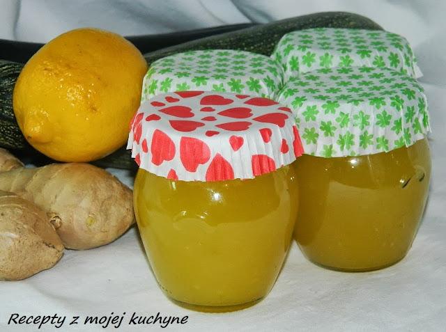 Cuketový džem s citrónom a zázvorom