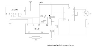 rf remote switch receiver circuit