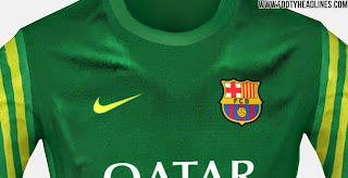 Jersey keeper Barcelona warna hijau terbaru musim 2015/2016