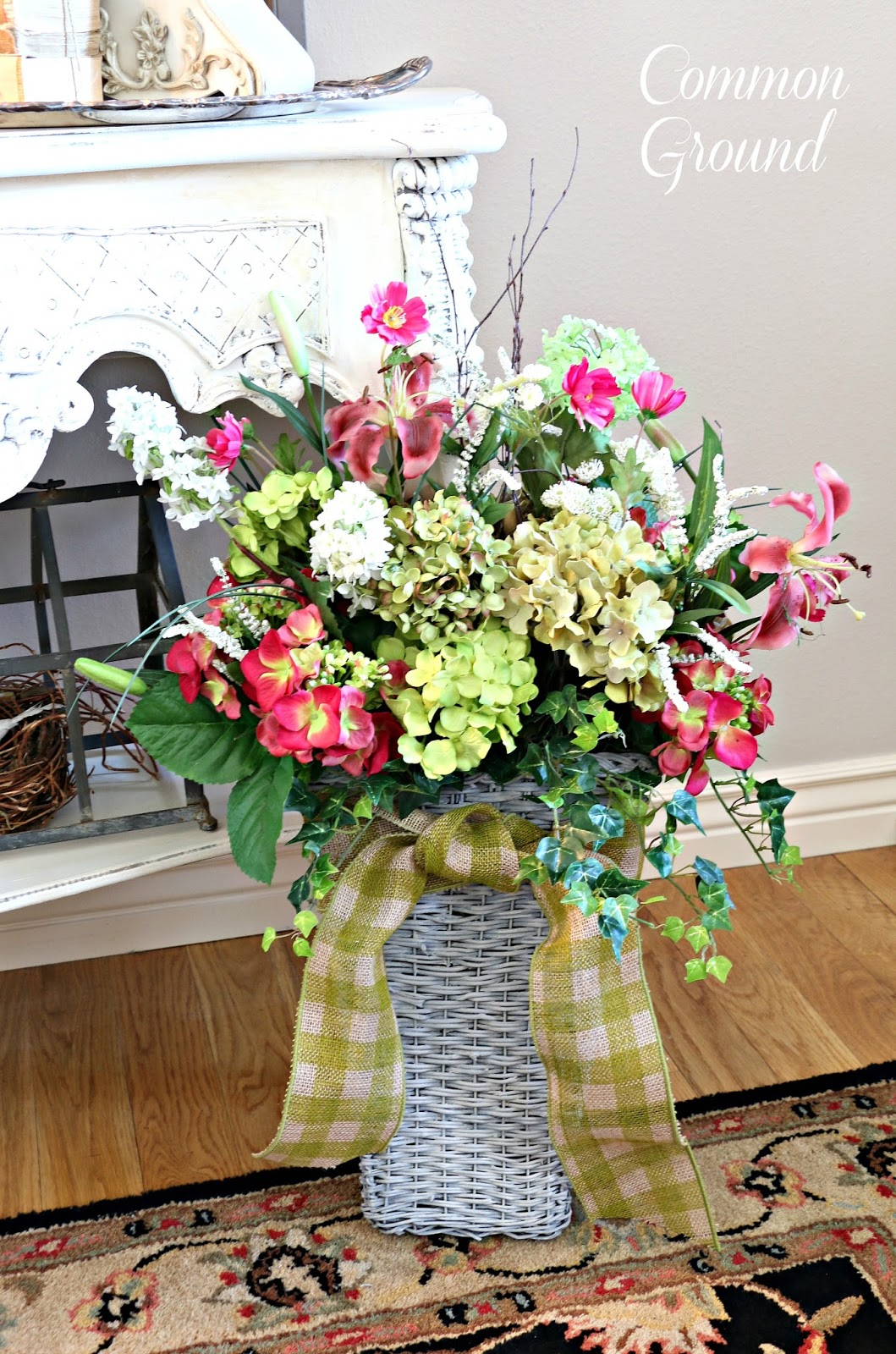 Baskets For Spring Door Decor