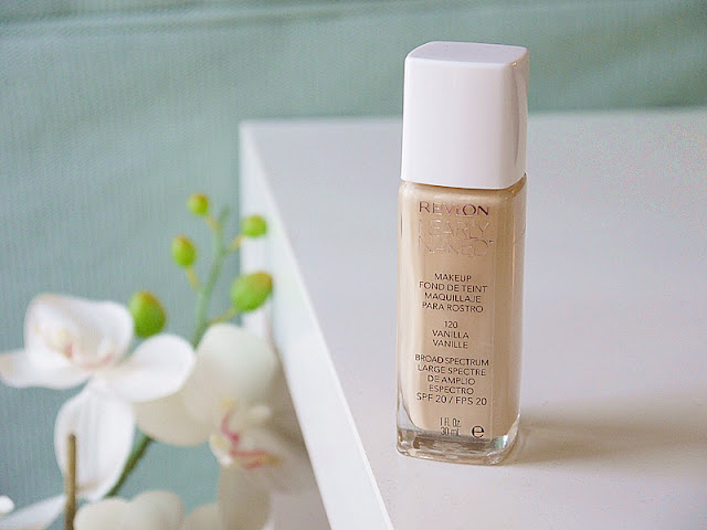 Review, Revlon Nearly Naked foundation,  120 Vanilla