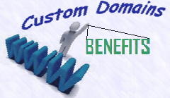 own custom blogger domain benefits