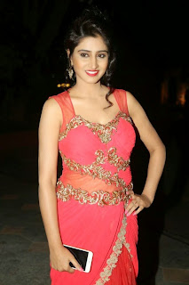Shamili Transparent Red Saree Latest Unseen Pictureshoot (13).JPG