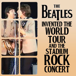 The 10 Coolest Things The Beatles Ever Did: 10. They Invented The World Tour And The Stadium Rock Concert