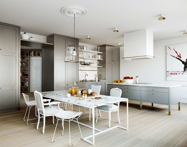 Very Best Grey White Kitchen with Dining Room Table 640 x 504 · 71 kB · jpeg