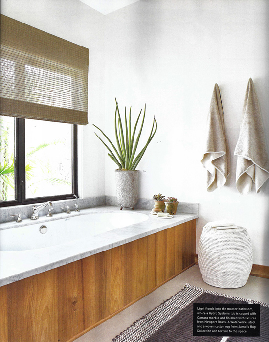 Eclectic bathroom designed by Amy Kehoe and Todd Nickey. Photo by Karyn Millet