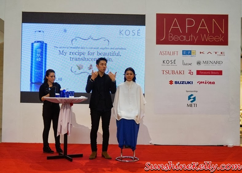 Kose, Kose Sekkisei, Kose Sekkisei Beauty Sharing with Mr Dobashi, Kose Japan, Sekkisei Lotion Mask, Beauty sharing, makeup, skincare, on stage
