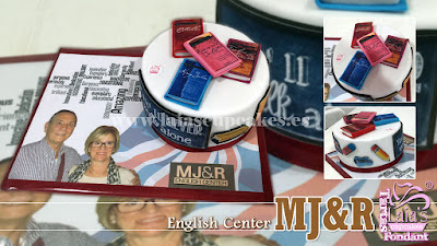 Tarta fondant personalizada academia inglés Laia's Cupcakes Puerto Sagunto