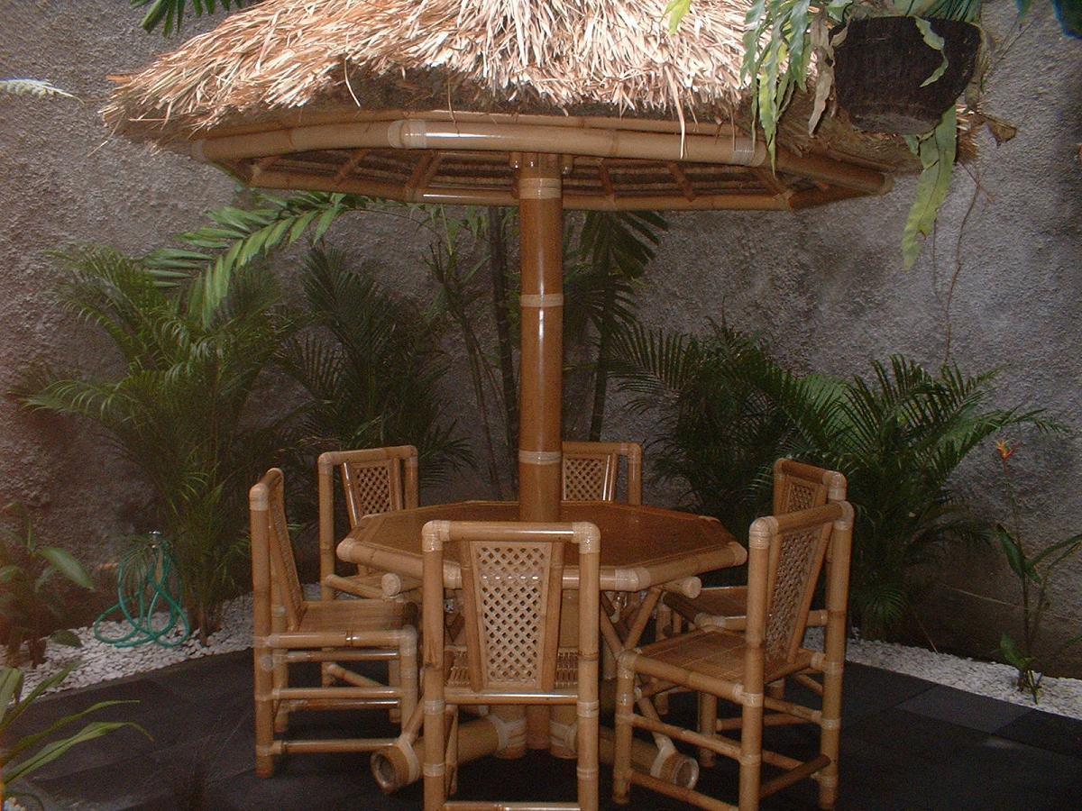 Rumah Gazebo Saung Minimalis Dari Bambu Dan Kayu Agar Taman Jadi