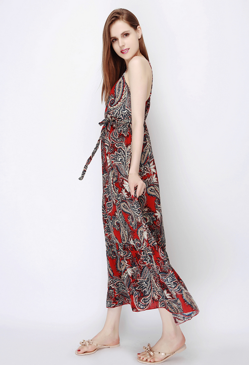 Paisley Print Resort Maxi Dress