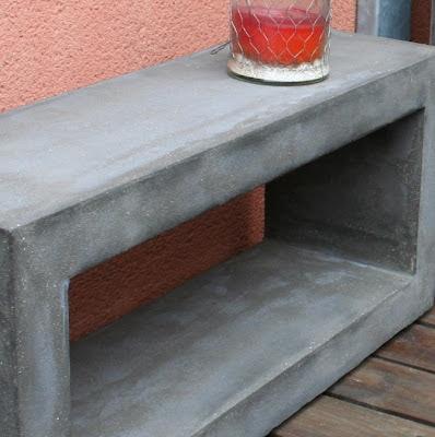 table beton com console b ton. Black Bedroom Furniture Sets. Home Design Ideas