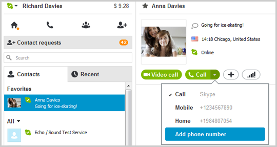 how to add contacts on skype mobile