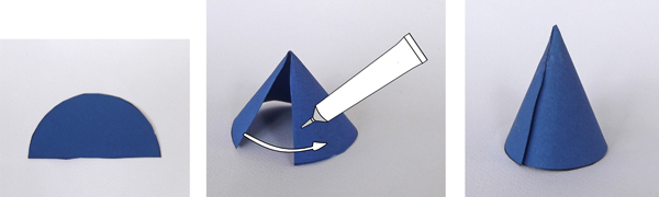 paper cone, how to make a paper cone, how to make a cone
