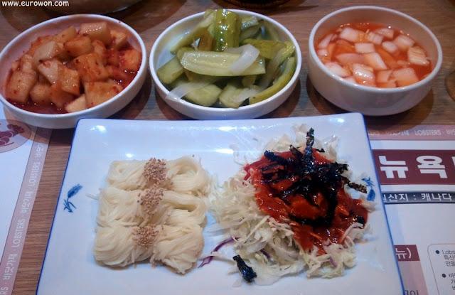 Platos de acompañamiento coreanos