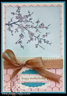 Mother's Day Card with Easter Blossoms Stamp Set