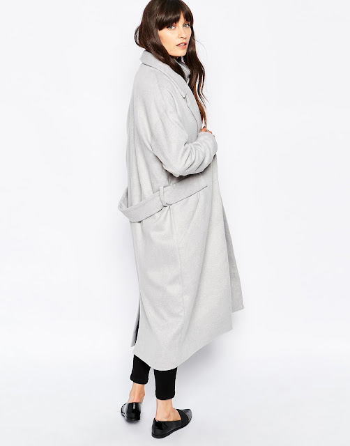 paisie grey coat, light grey maxi coat, grey long coat,