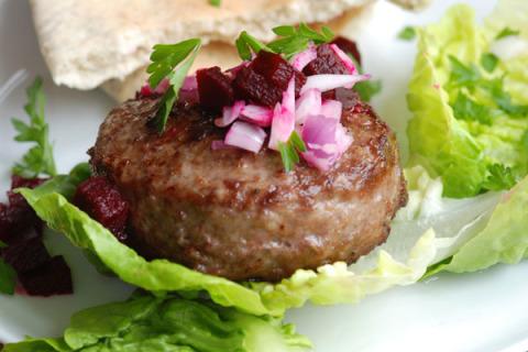 Basil-Feta Turkey Burgers
