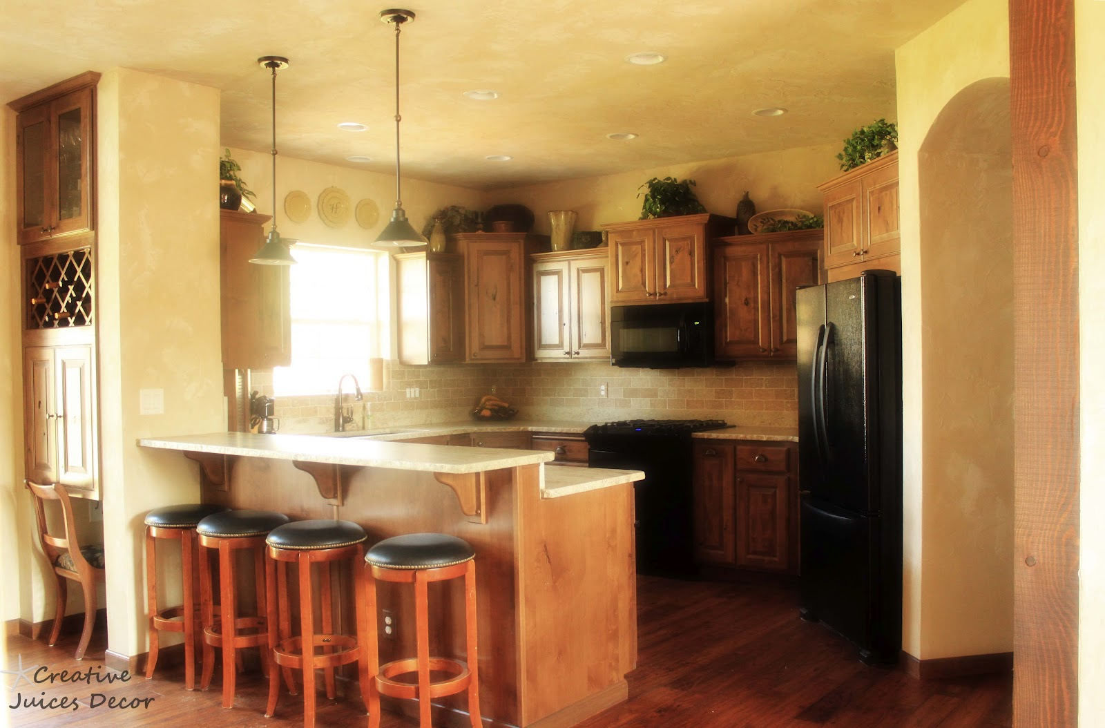 decor house tour part two tuscan themed kitchen with honed granite