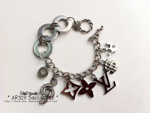 silver-lv-charm-bracelet-luxury