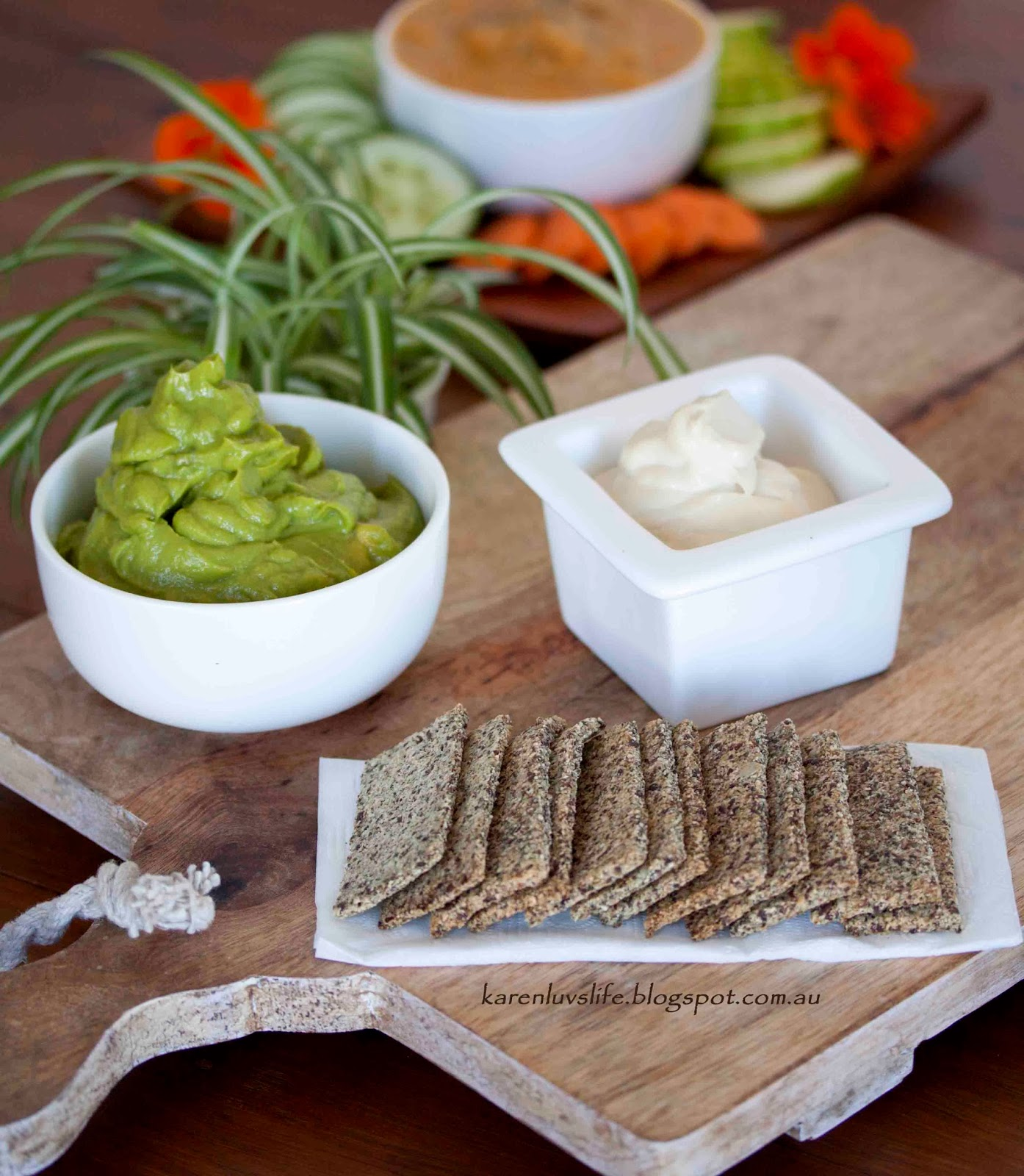From Low fat veggie dip recipe normally