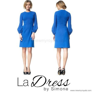 Queen Maxima Style  LA DRESS Maria Cobalt  Dress