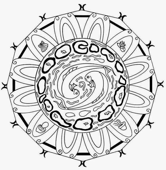 energy water mandala coloring pages