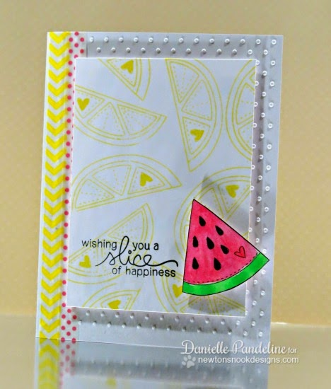 Watermelon Slice of Happiness by Danielle Pandeline | Sweet Summer Stamp set by Newton's Nook Designs