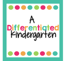 differentiated kindgarten - math resources for teachers