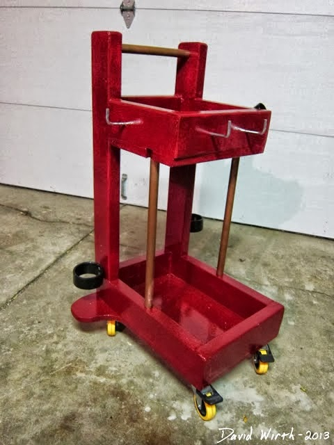 welding cart, lightweight, wood, rolling