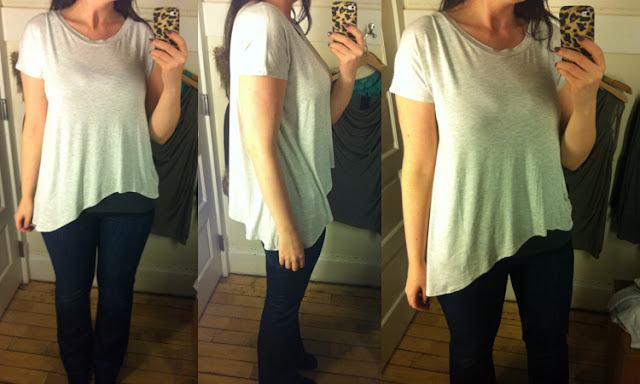 Asymmetric Throwback Tee review :: Effortless Anthropologie