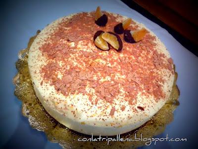 Tarta Mousse De Queso Y Mandarina