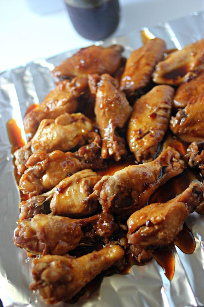 Slow Cooker Spicy Teriyaki Chicken Wings