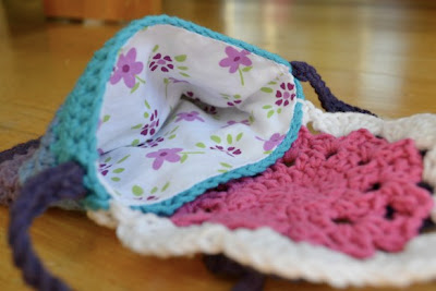 free crochet doily bag pattern