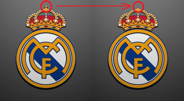 logo salib real madrid hilang