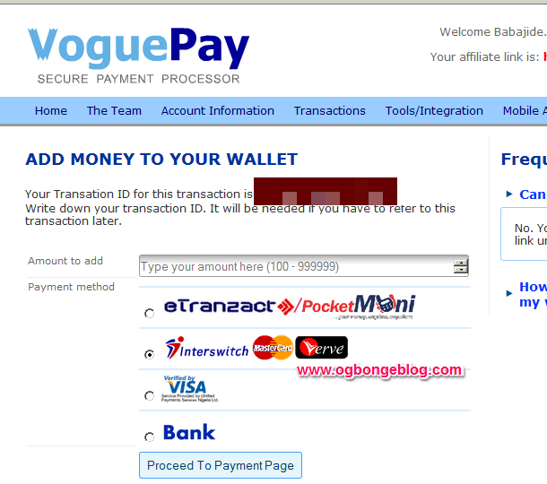fund voguepay account