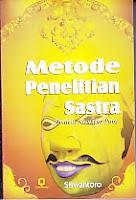 toko buku rahma: buku METODE PENELITIAN SASTRA, pengarang siswantoro, penerbit pustaka pelajar
