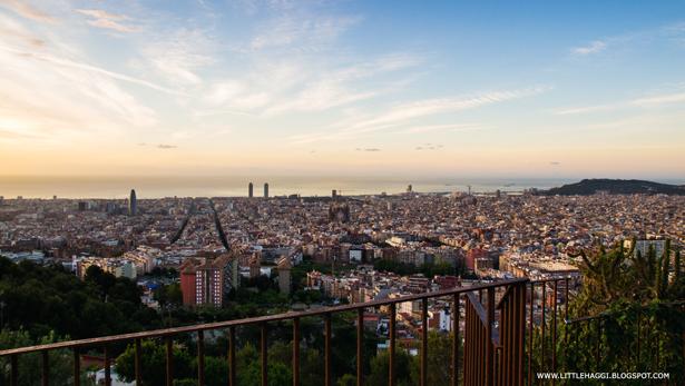 Panoramica Barcelona amanecer