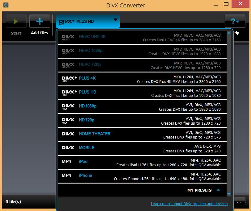 DivX Player Description for Windows 10