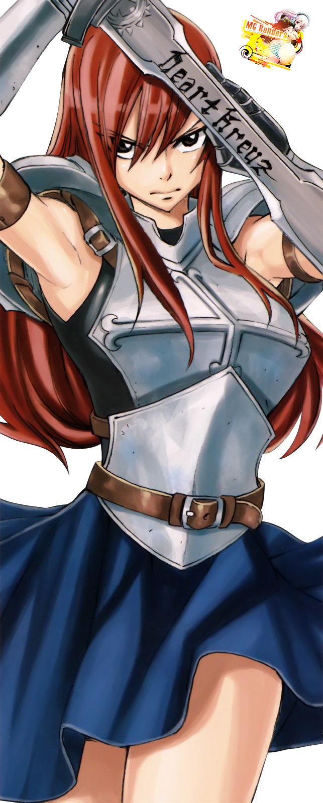 Tags: Anime, Render,  Erza Scarlet,  Fairy Tail,  PNG, Image, Picture