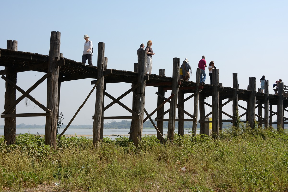 U Bein bridge at Amarapura, Myanmar