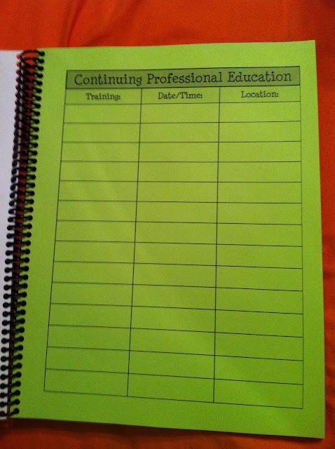 Lesson Plan Book CPE Page