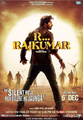 R...Rajkumar First Look Poster Ft. Shahid Kapoor & Sonakshi Sinha