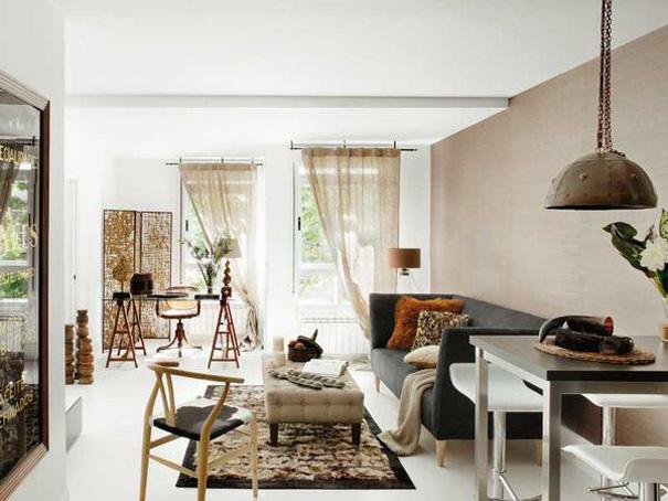 Eclecchic calidez en 65 m2 - Butacas pequenas para salon ...