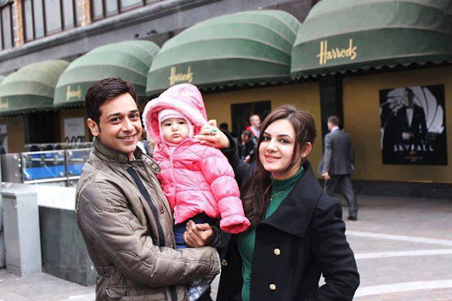 Faysal Qureshi With His Cute Family