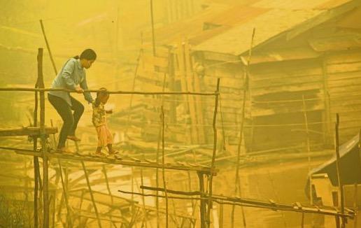 Jerebu di Kalimantan tengah paling teruk di Indonesia