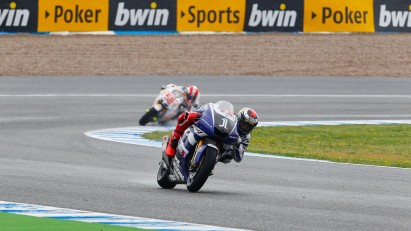 Lorenzo wins in Jerez Spain