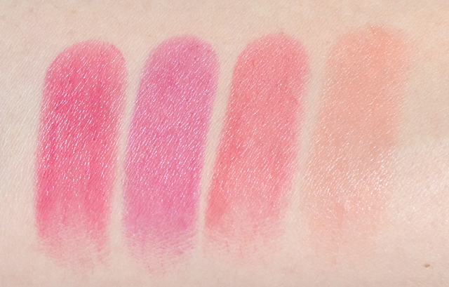 Revlon Pacific Coast Collection (Spring 2013) Lip Butters in Sorbet, Lollipop, Wild Watermelon, Juicy Papaya